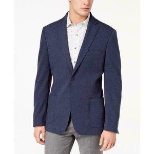 Bar III Slim-Fit Stretch Knit Blue Sport Coat